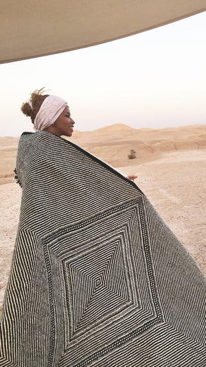 Image of Moroccan Kilim Rug - Diamond Pattern Flatweave #1