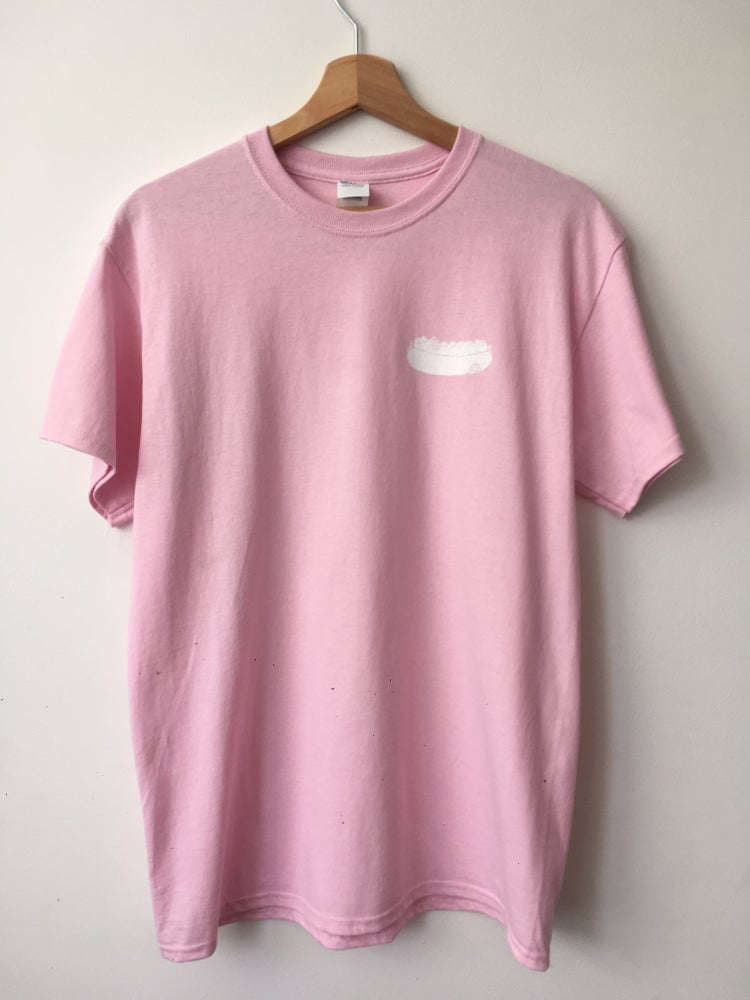 Image of Hot Dog - Pink Tee/White print