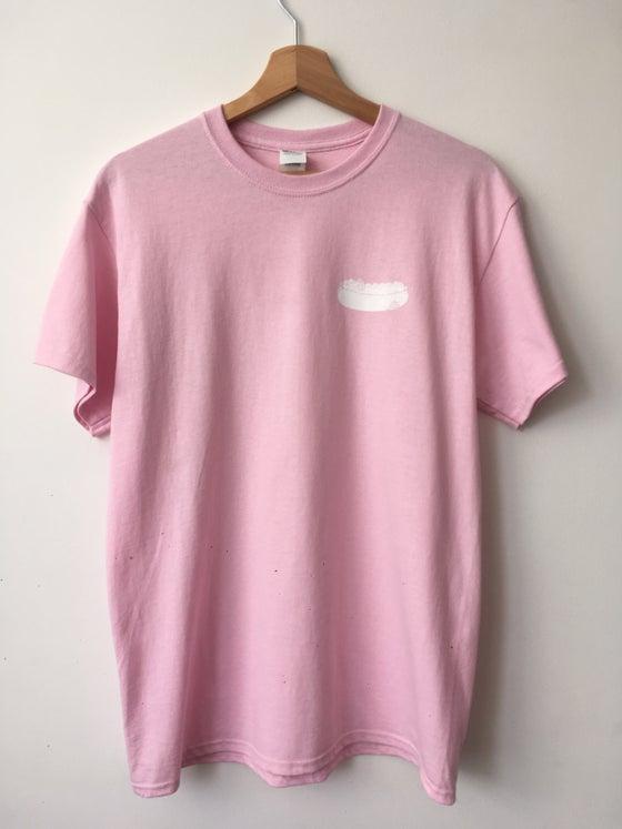 Image of Hot Dog - Pink Tee/White print