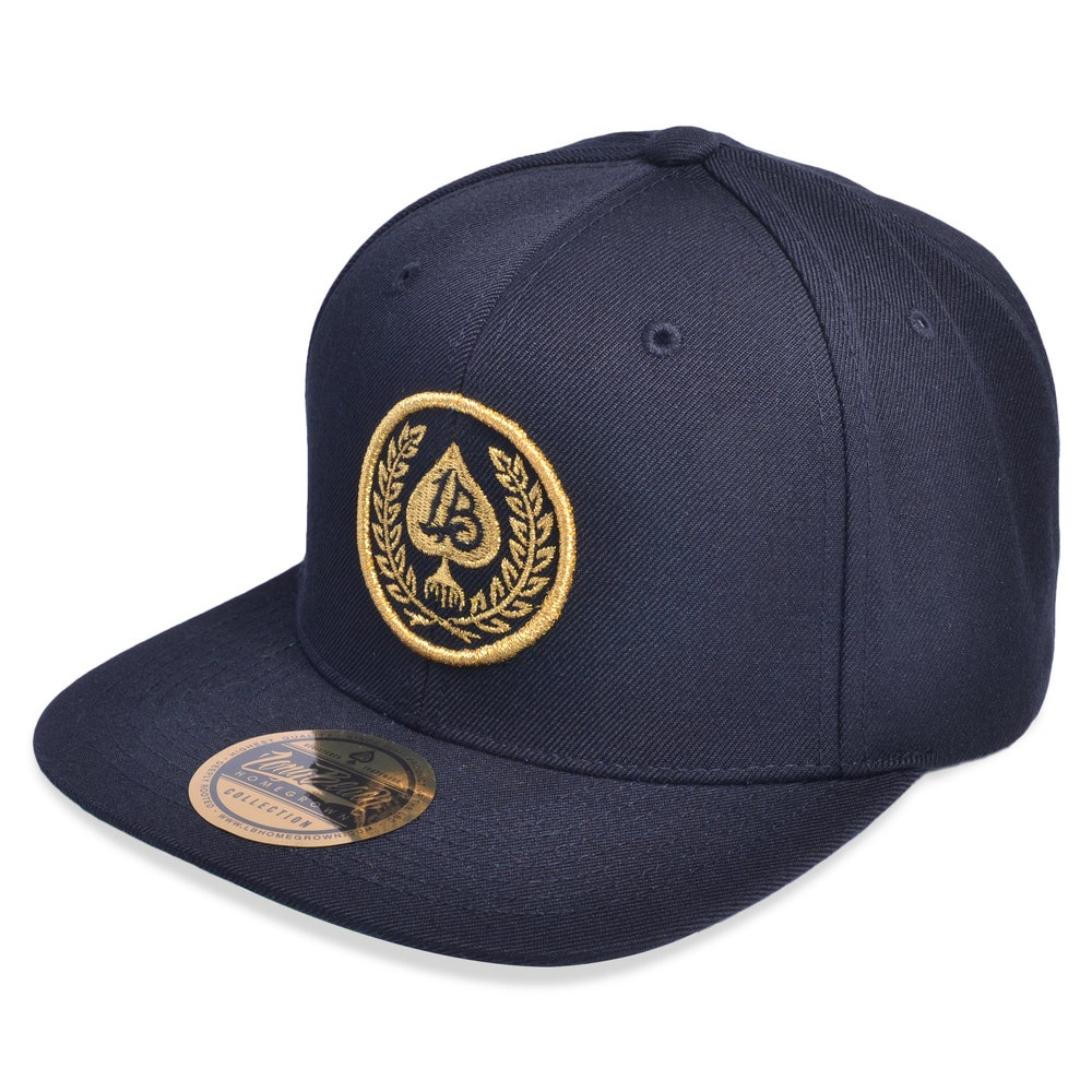 Image of SPADE WREATH SEAL BLACK/GOLD SNAPBACK