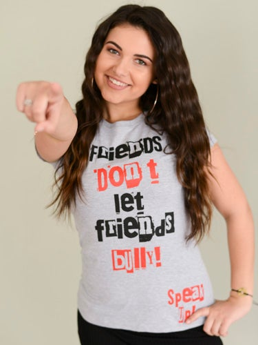Image of GREY FRIENDS DON'T LET FRIENDS BULLY TEE