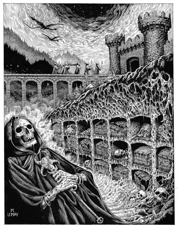 Image of Maegan LeMay 'Cry from the Crypt' original art