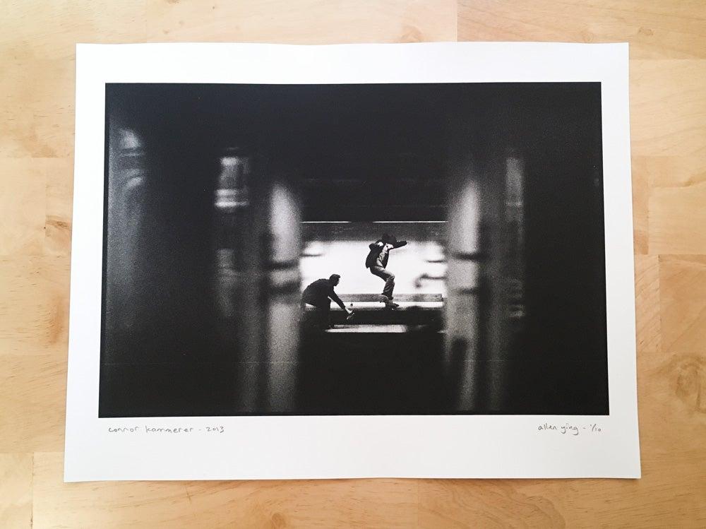 """Image of connor kammerer - nollie crooked grind - 11"""" x 14"""" gelatin silver print"""