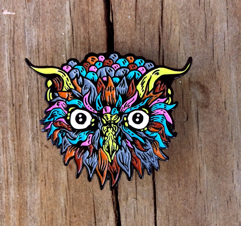 "Image of Electric Owl: 1.75"" Limited Edition Enamel Pin"