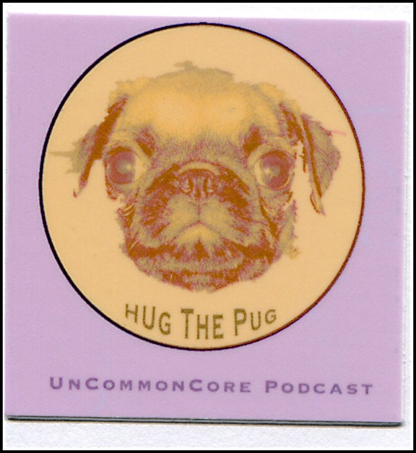 Image of Small Hug The Pug Sticker