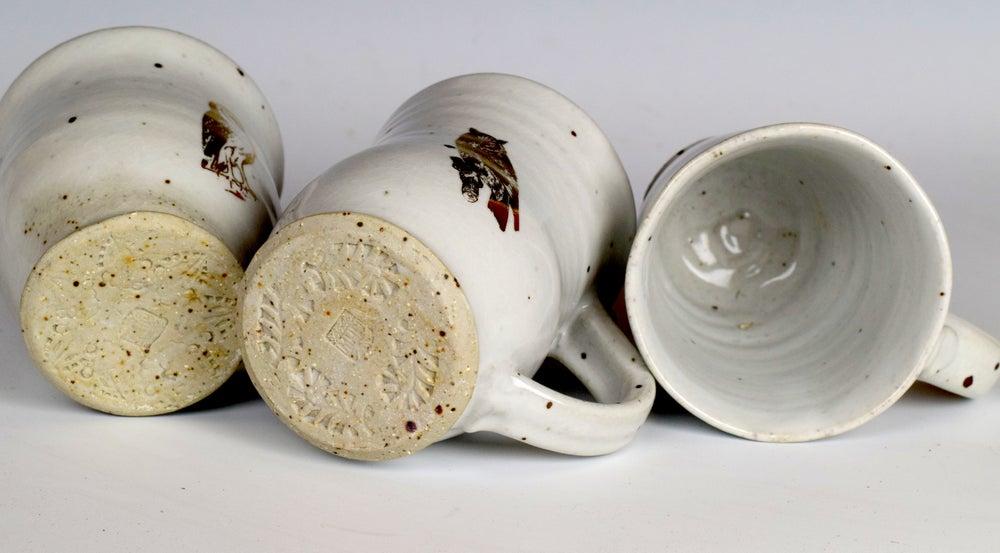 Image of Sweet Little Gold Lustre Owl Mugs