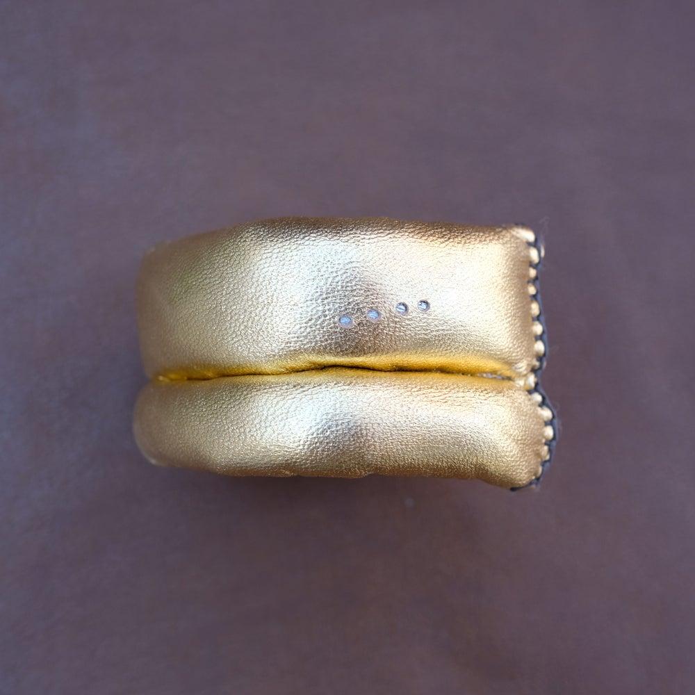 Image of DL Bracelet in Gold Leather