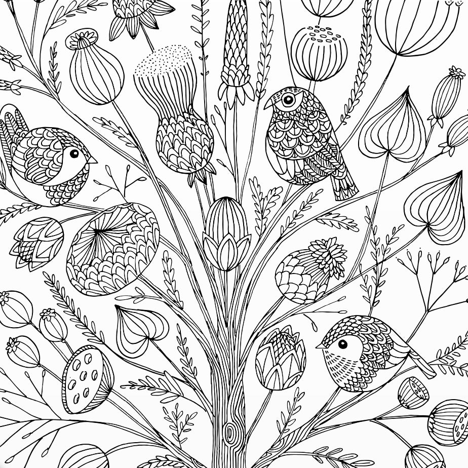 Image of Print: Flowery Bush Fall