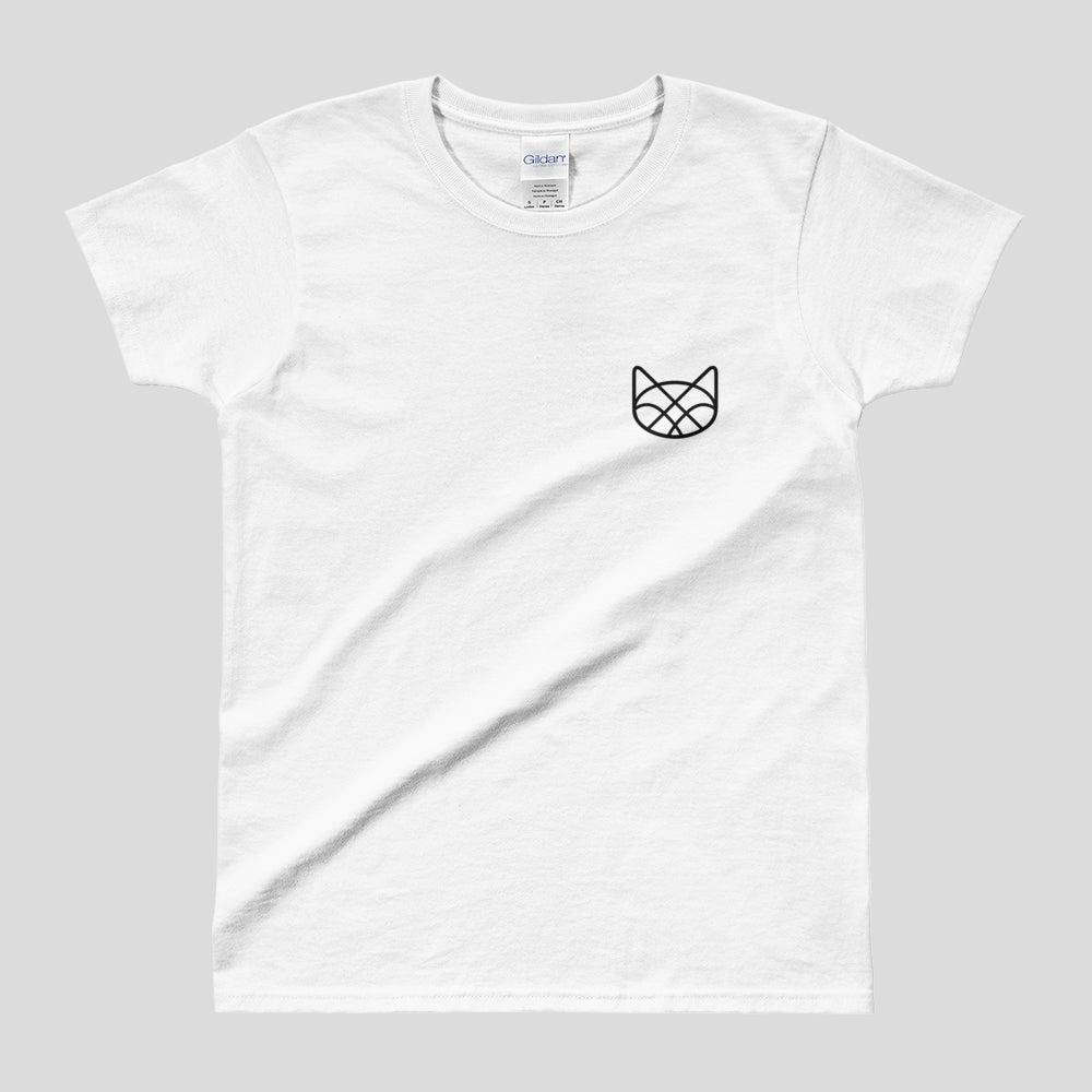 Image of Minimal Geometric Kitty Cat Tee