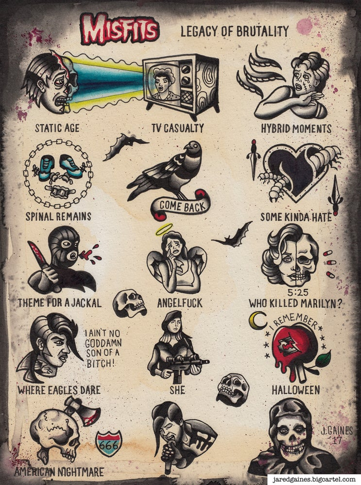 Image of Misfits - Legacy of Brutality Print