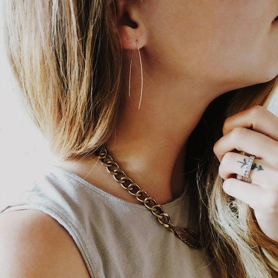 Image of Minimal Wishbone Earrings