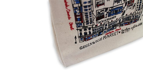 Image of Greenwich Market Small Tote Bag - Calico