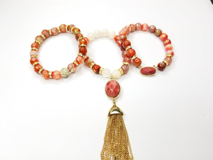 Image of Red Jasper Gemstone 3 Piece Set