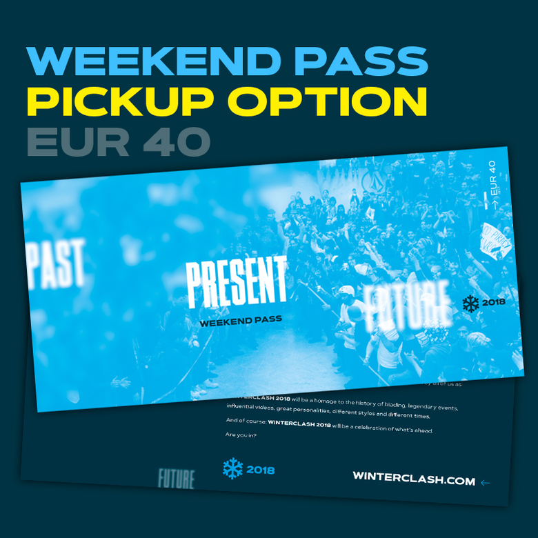 Image of Winterclash 2018 Weekend Pass - Pickup Option