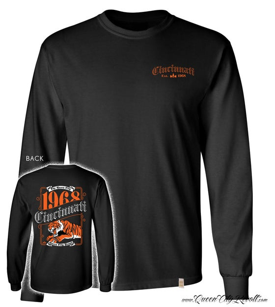 Image of Cincinnati Bengals Label Longsleeve Tee, Black