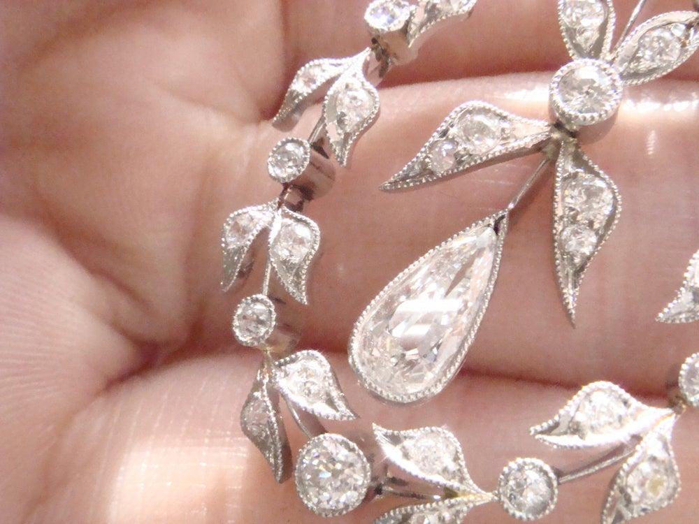Image of EDWARDIAN PLATINUM DIAMOND LAVALIERE 2.30CT. STUNNING. ORIGINAL