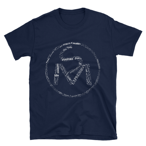 Image of The S.O.L.E. Movement Unisex White Word Art Tee in Navy