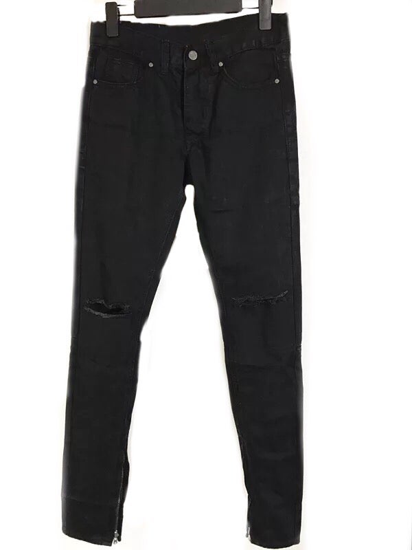 Image of Black Zip Up Denim
