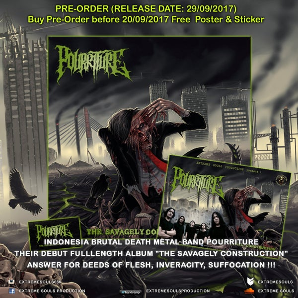 Image of POURRITURE - THE SAVAGELY CONSTRUCTION CD