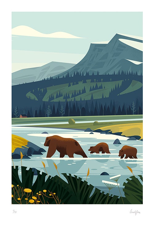 Image of YELLOWSTONE - Grizzly family