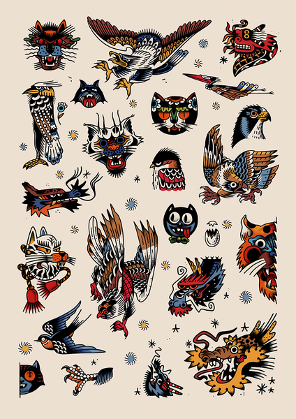 Image of Cats, Birds and Dragons
