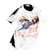 Image of resort to violence split tee