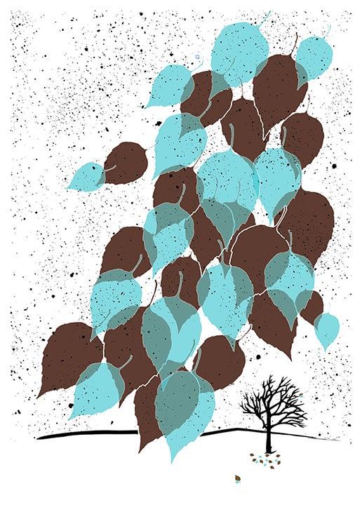 Image of Winter Leaves Screenprint - New!