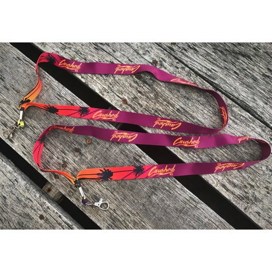 Image of Burgundy And Orange Tropical Crushed MX Lanyard