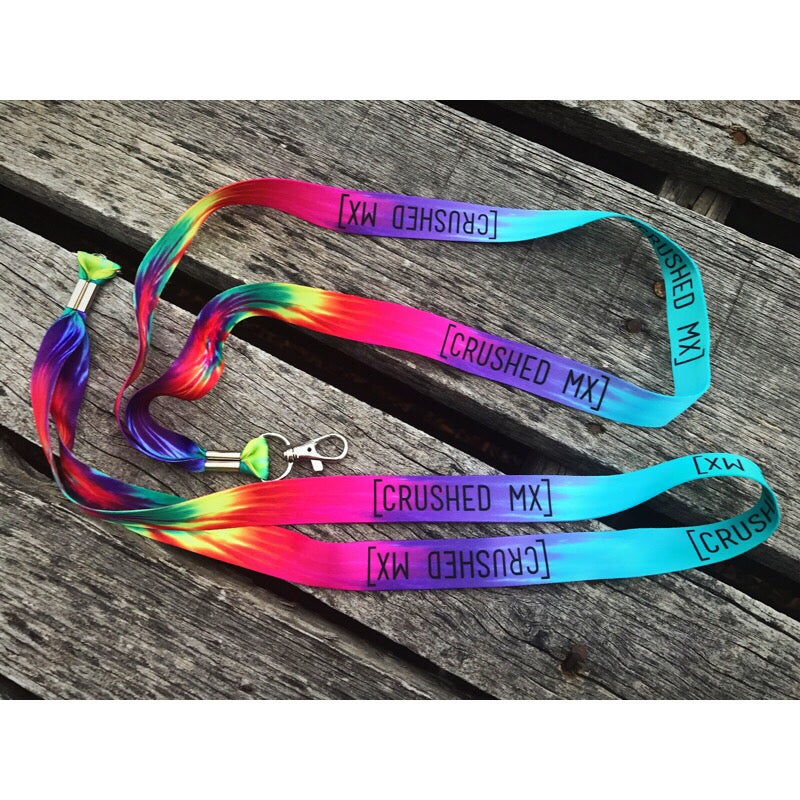 Image of Tie Dye Crushed MX Lanyard