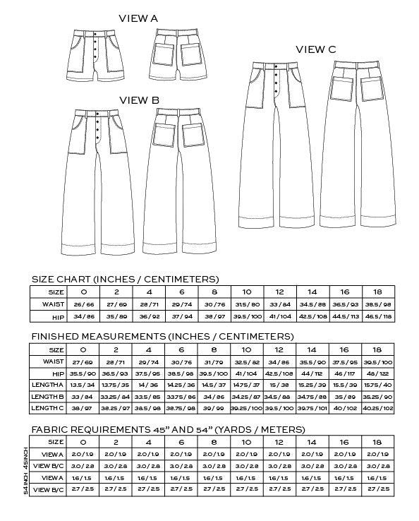 Image of LANDER PANT & SHORT (PDF)