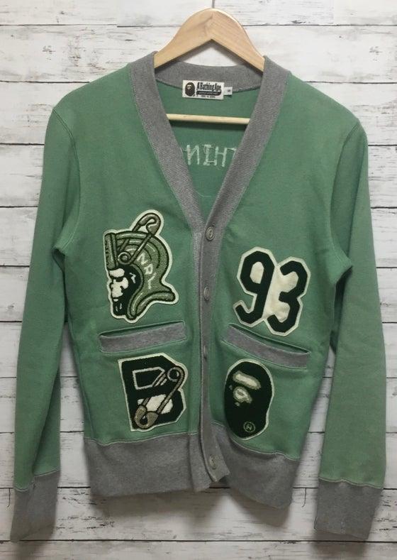 Image of Bape Letterman Cardigan Sweater