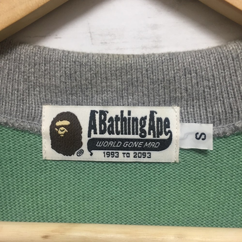 Image of Bape Letterman Cardigan Sweater