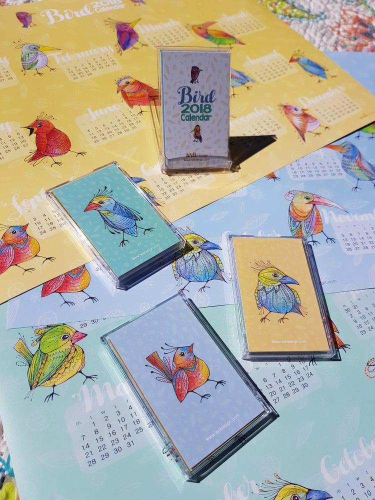Image of 2018 Bird Calendar - Small Case