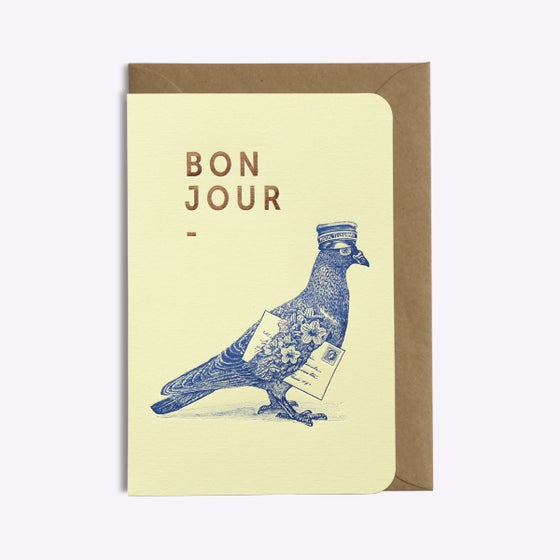 Image of CARTE BONJOUR LOVE IS IN THE AIR