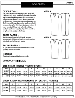 Image of LODO DRESS - PAPER PATTERN (PREORDER)