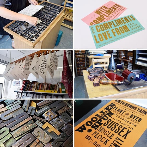 Image of LETTERPRESS ONE TO ONE SESSION. 6 HOURS £120.00