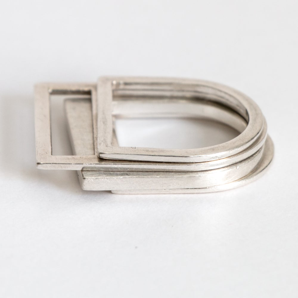 Image of RING ZILVER 'LAYRS'  #TRIPLE