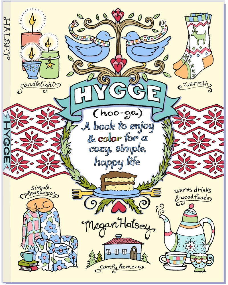 Image of NEW! Hygge- A Book to Enjoy & Color for a Cozy, Simple, Happy Life