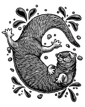 Image of River Otter T-shirt **FREE SHIPPING**