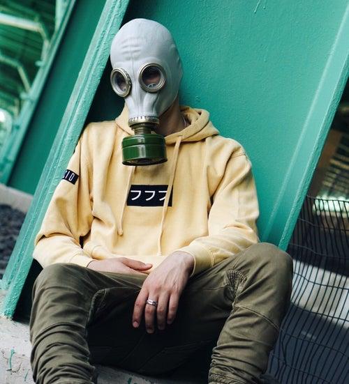 Image of lucid logo hoodie vol. II [mustard]