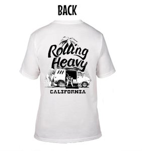 Image of EZ Rolling Heavy California Pocket Tee.  Art by EZ