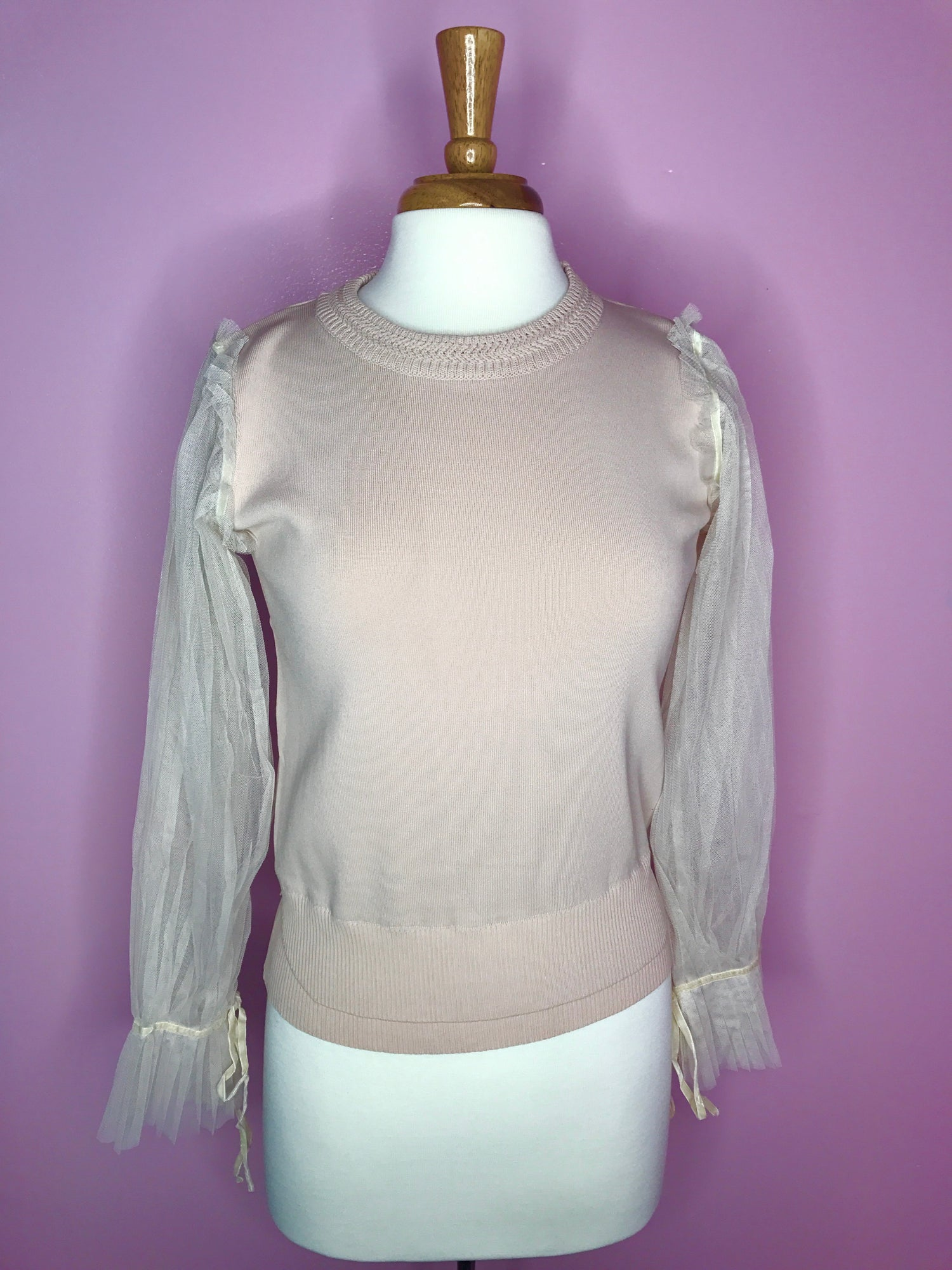Image of Tulle Bell Sleeves Sweater