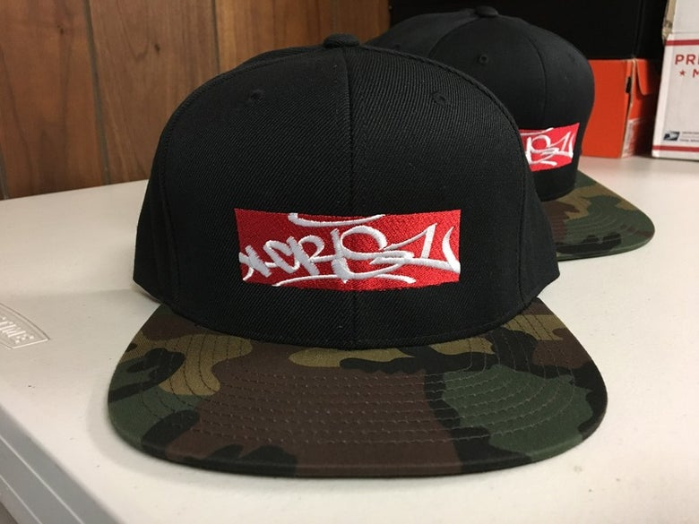 "Image of Cris1 ""Box Tag"" Snapback (Camo)"