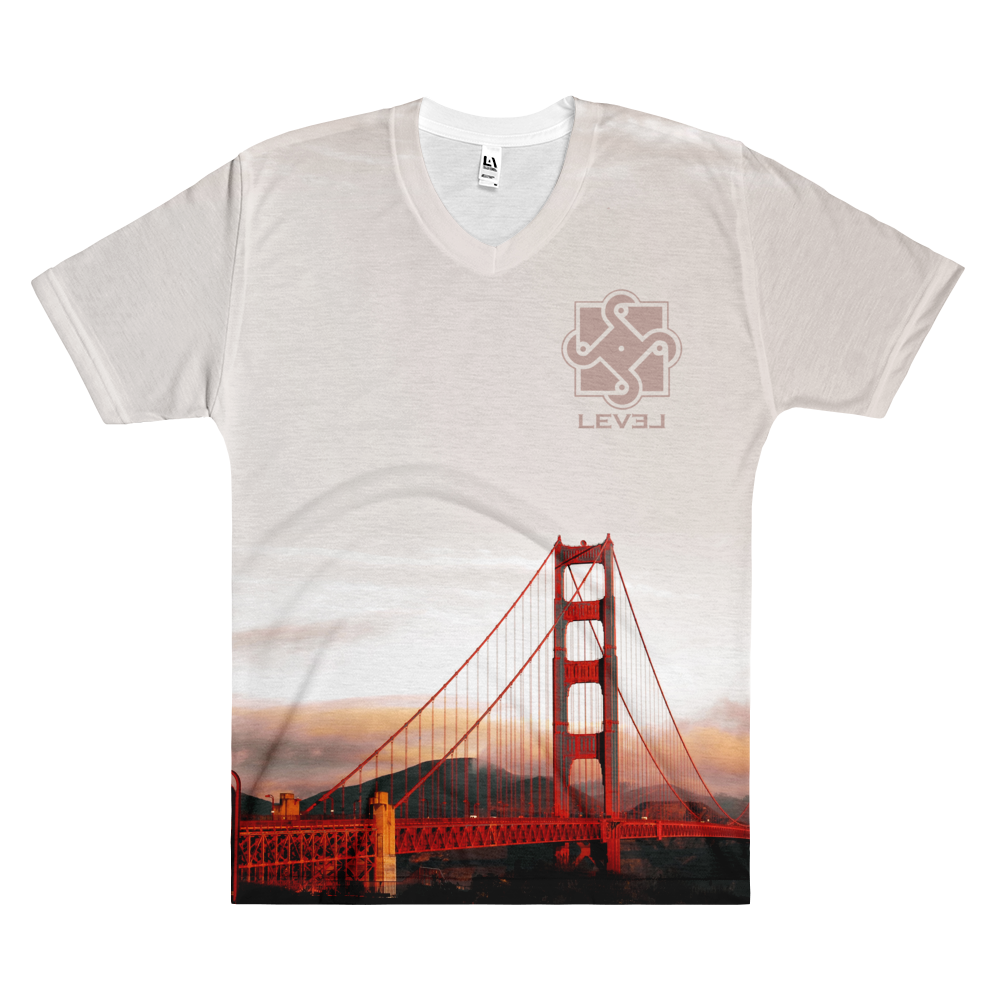 Image of Mens Golden Gate V Neck