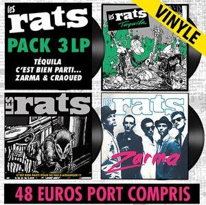 Image of LES RATS Pack 3 LP