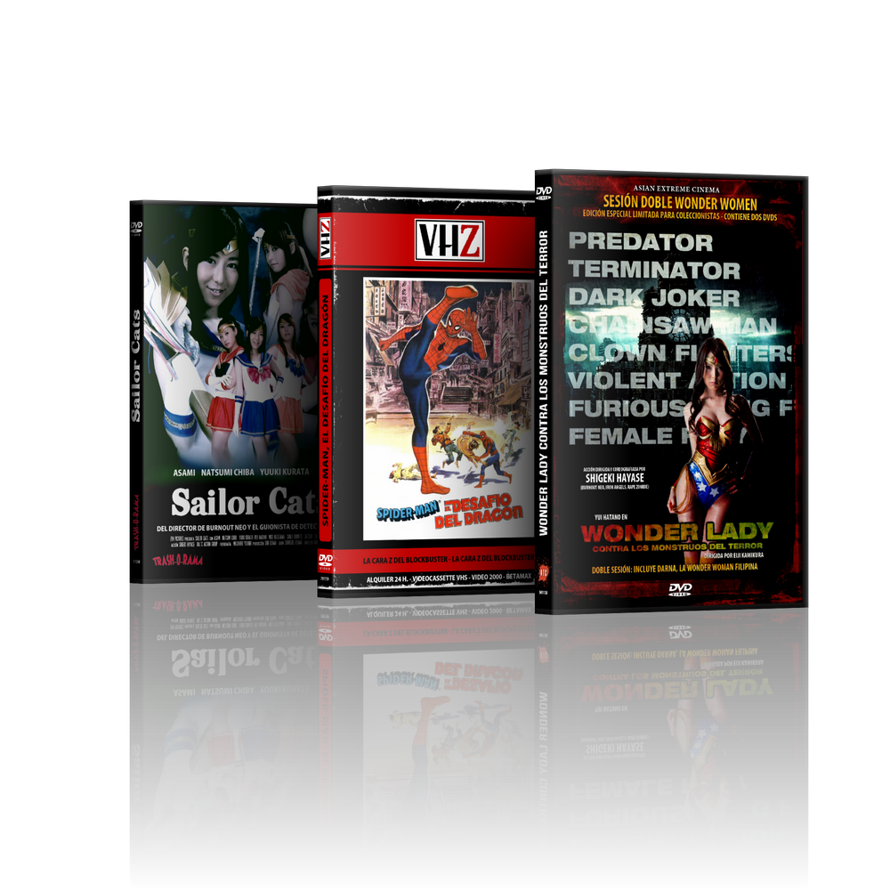 Image of Combo Wonder Women + Sailor Cats + Spiderman (4 DVD)
