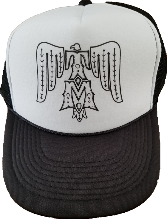 Image of Black and white OTTO trucker cap