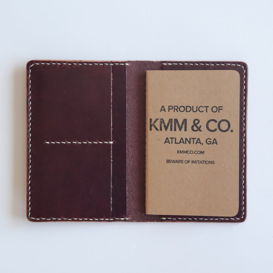 Image of Burgundy Notebook Wallet