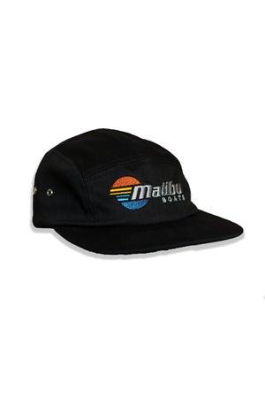 Image of Malibu Five Panel Cap - Black & Khaki