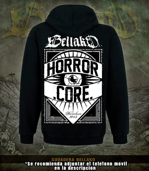 "Image of Bellako ""Horror Core"" Black Hoodie"